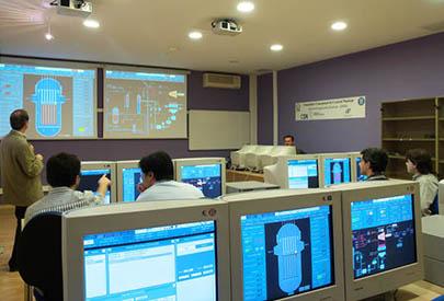 Simulador conceptual en central nuclear: Parada d'emergència