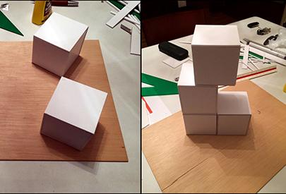 Experimentant formes i models constructius